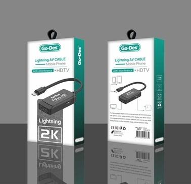 Lopard Go Des GD-8275 iPhone Lightning Av Kablo HDMI Dönüştürücü Renkli